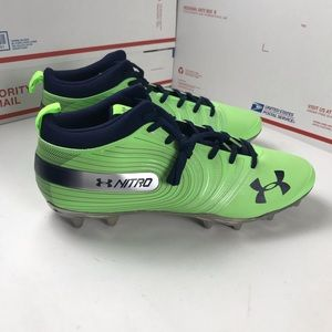 New No Box Under Armour Cleats Football Green Blue